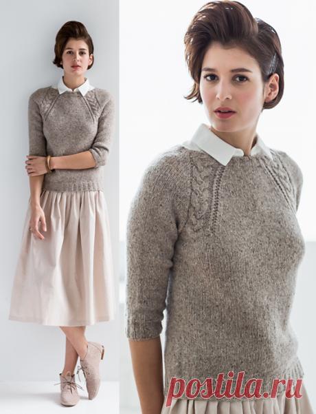 Вязаный спицами пуловер Coda | ДОМОСЕДКА