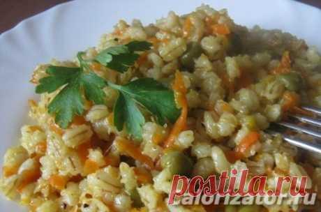 Перловка с овощами - калорийность, состав, описание - www.calorizator.ru