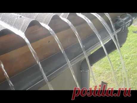 Простой вариант сливной системы для крыши из труб канализации