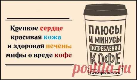 Крепкое сердце,красивая кожа и здоровая печень: мифы о вреде кофе   Крепкое сердце,красивая кожа и здоровая печень: мифы о вреде кофе.Душистый, ароматный, крепкий и такой противоречивый! О вреде и пользе кофе спорят все кому не лень. Но, согласись, ничто не рассудит…
