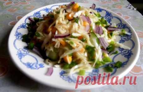 Витаминный салат «Радуга» за 10 минут! Нет ничего проще! Советую всем! | Поварешка | Яндекс Дзен