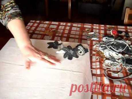 Вязание ирландских кружев для начинающих. 3. Мой первый планшет