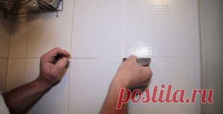 Как вычистить плиточные швы в ванной   Делимся советами
