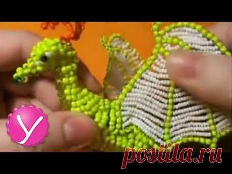 Бисероплетение - плетение фигурки - YouTube