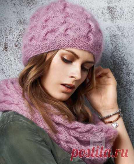 Шапка с плетеным узором: схема вязания, подробная инструкция, описание на сайте «Люди вяжут»