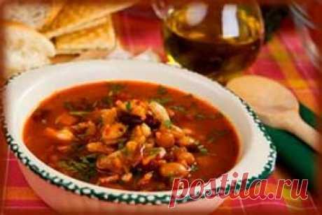 Фасолевый суп с мясом Фасолевый суп с мясом Пошаговые кулинарные рецепты с фотографиями –