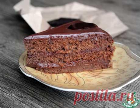 """Бисквит """"Шоколадница"""" с карамельно-шоколадным ганашем – кулинарный рецепт"""