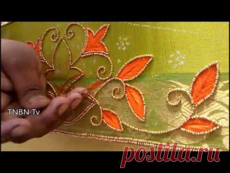 maggam work tutorial for beginners, latest maggam work blouse designs 2017,basic embroidery stitches - YouTube