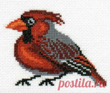 Cardinal counted cross-stitch design   Etsy