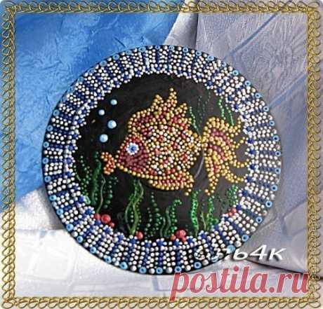 La pintura CD-punteada de los discos | Efariya
