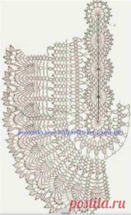 Схема коврика крючком