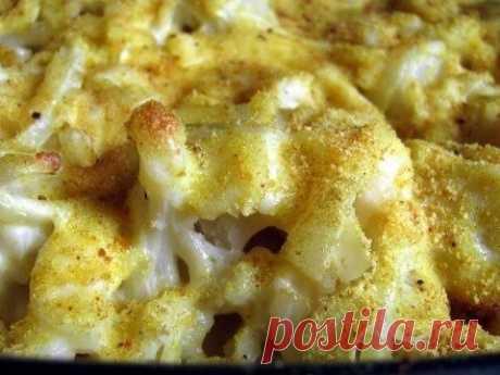 Как приготовить цветная капуста под сырным соусом - рецепт, ингредиенты и фотографии