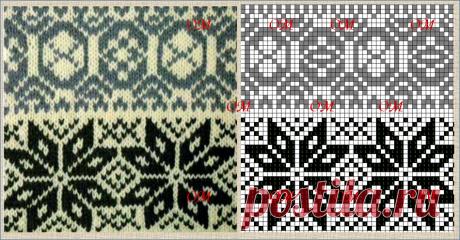 Еще 10 интересных наборов схем для жаккардового вязания спицами по фотографиям образцов   ЖАККАРДос   Яндекс Дзен