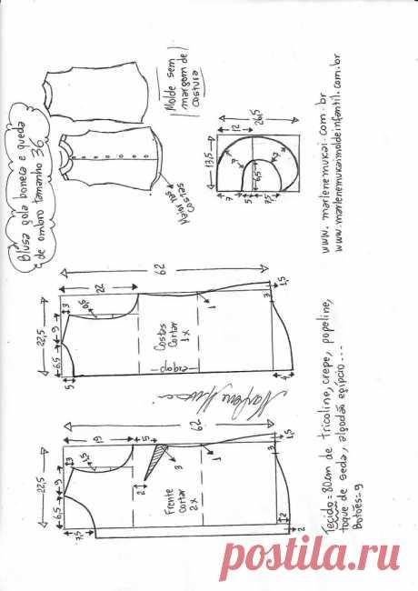 Выкройки блузки без рукава (Шитье и крой) – Журнал Вдохновение Рукодельницы