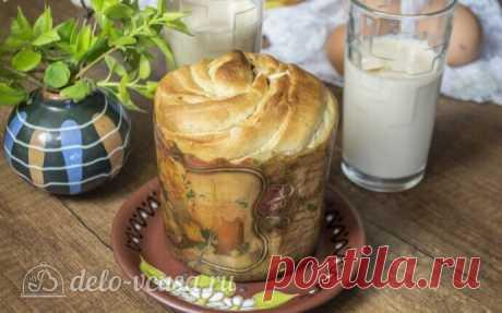 Кулич краффин на топленом молоке, пошаговый рецепт с фото