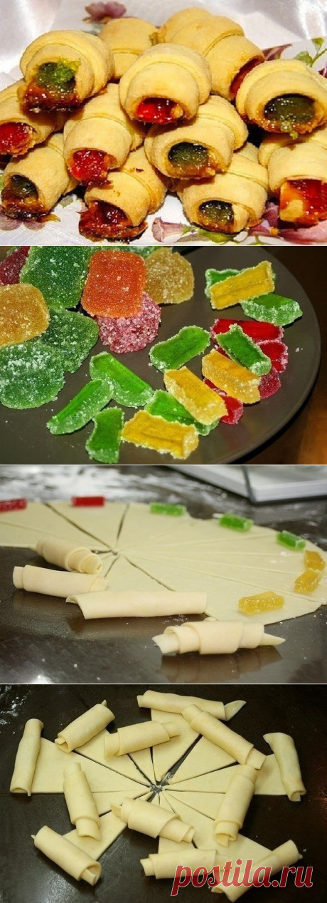 How to prepare rolls with fruit jelly - the recipe, ingredients and photos
