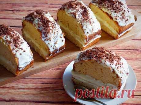 Пирожные с кремом из сыра маскарпоне — Sloosh – кулинарные рецепты