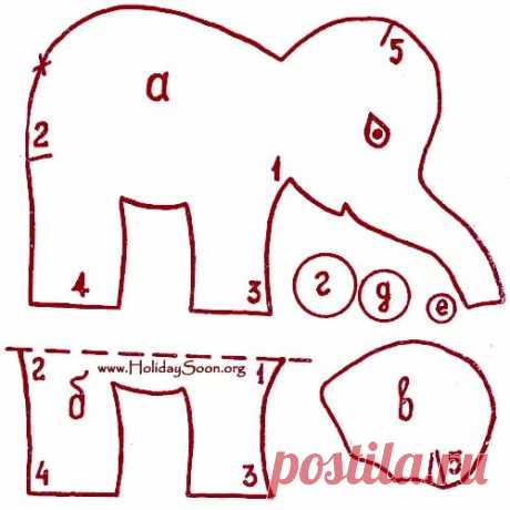 Выкройки мягких слоников тедди фото 847