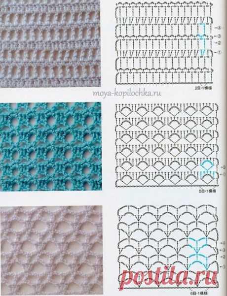 Вязание крючком. Простые схемы.Идеи. | Саблина Олеся | Яндекс Дзен