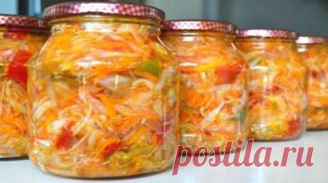 Простой рецепт вкусного салата на зиму без варки и стерилизации - Вкусные рецепты - медиаплатформа МирТесен