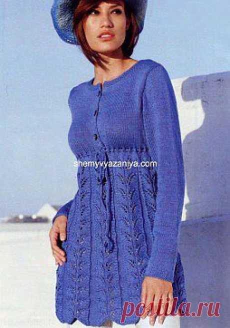 Длинный пуловер с застежкой на пуговицах