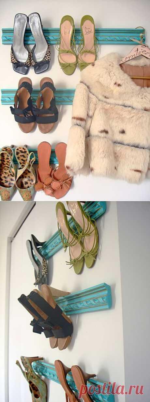 Как использовать остатки плинтуса в целях организации и хранения обуви / Организованное хранение / Модный сайт о стильной переделке одежды и интерьера