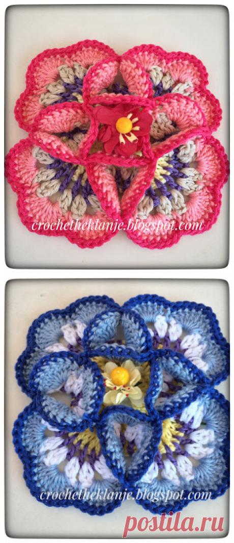 Crochet Heklanje: Moj rad 54 - Cvijet 13