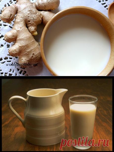 Молоко с имбирем, медом и корицей - напиток от кашля