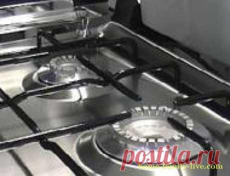Лайфхак. Чистим  кухонную плиту/Сайт с пошаговыми рецептами с фото для тех кто любит готовить