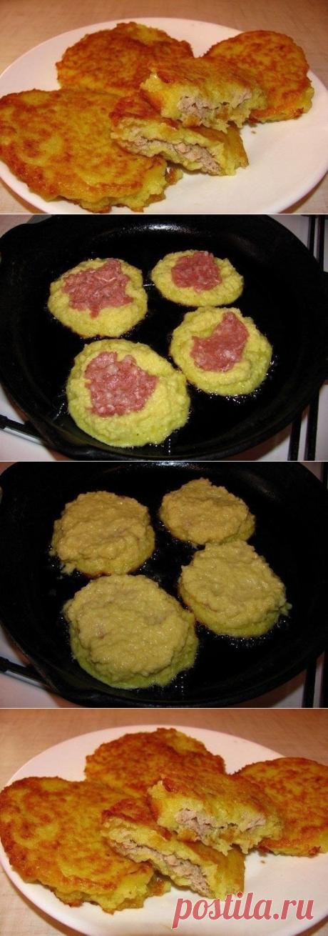 Как приготовить деруны с мясом  - рецепт, ингридиенты и фотографии