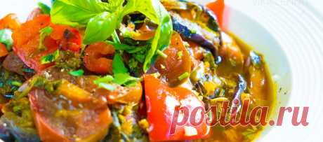 Овощное Соте из баклажанов | Видео-рецепт с фото