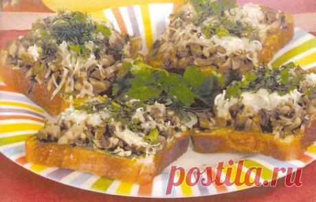 Бутерброды с грибами | Я тебя съем | Яндекс Дзен