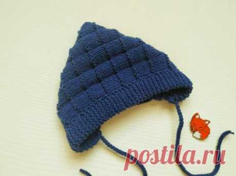 Чтобы малыш не простудился. Теплый капор на осень спицами » «Хомяк55» - всё о вязании спицами и крючком
