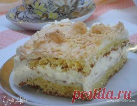 Норвежский торт. Ингредиенты: сахар, сливочное масло, яичные желтки