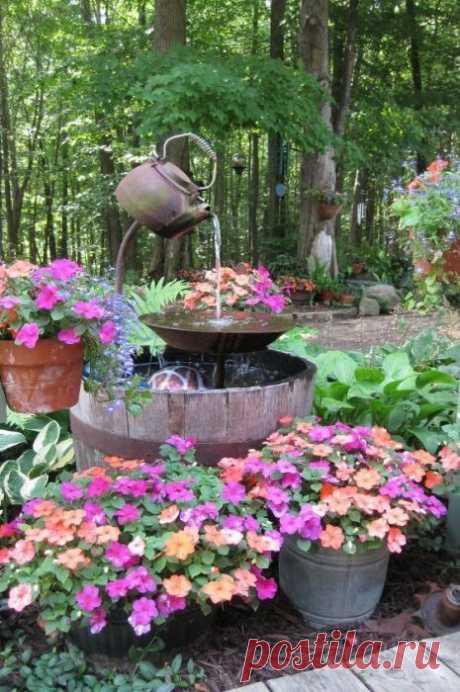 Фонтаны для сада, которые станут украшением любого участка . Милая Я