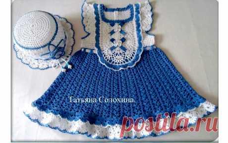 Вязаное платье для девочки. Схема