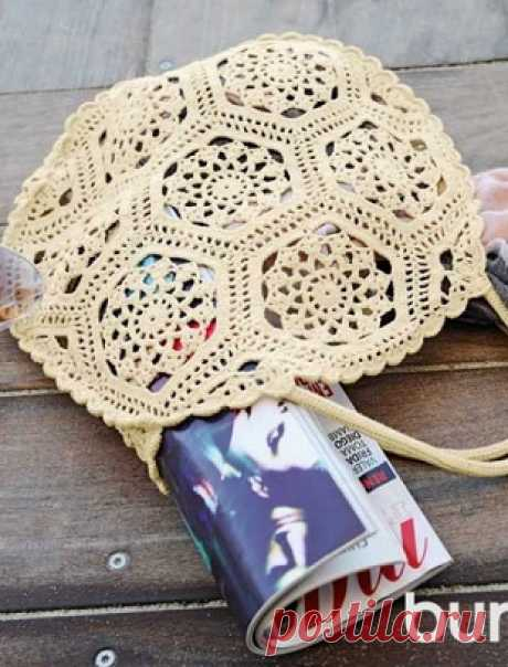 Вязание сумки из мотивов крючком