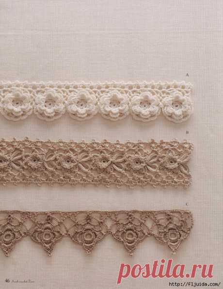 55 схем вязания ажурного кружева крючком