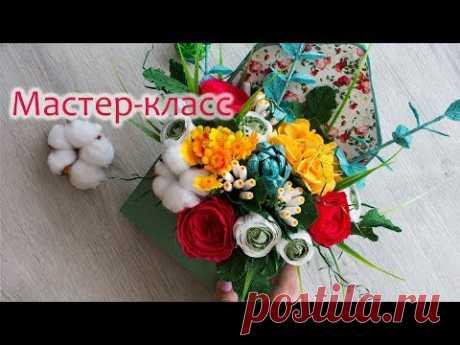 Цветочное послание в конверте/ Мастер-класс/ Paper flowers