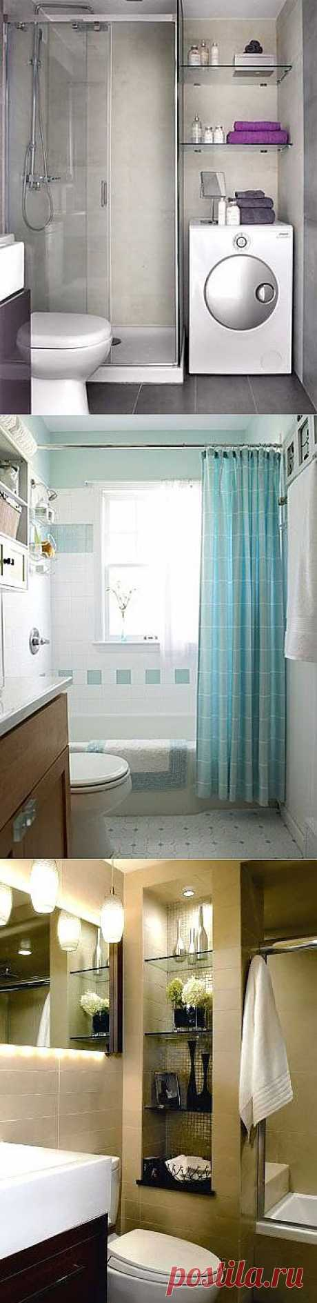 19 ways to visually increase a bathroom: local lighting, special walls painting...