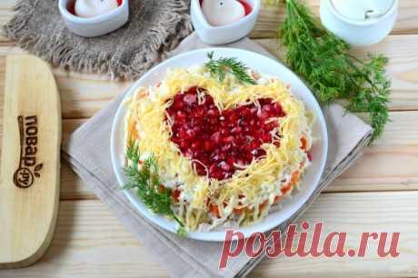 """Салат """"Страсть и любовь"""" - пошаговый рецепт с фото на Повар.ру"""
