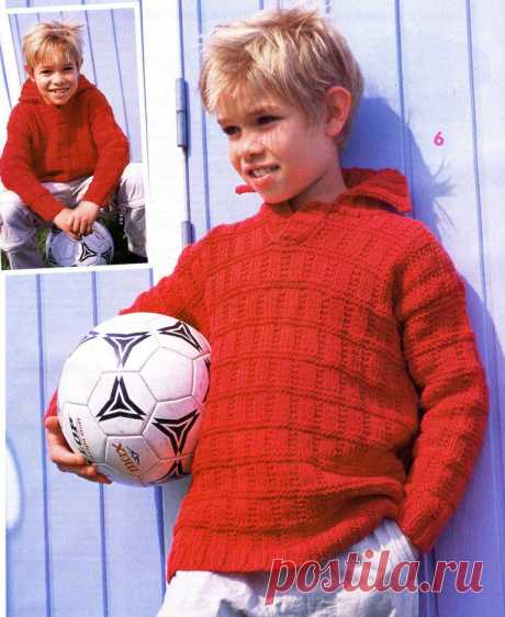 Pullover for the boy. Spokes.