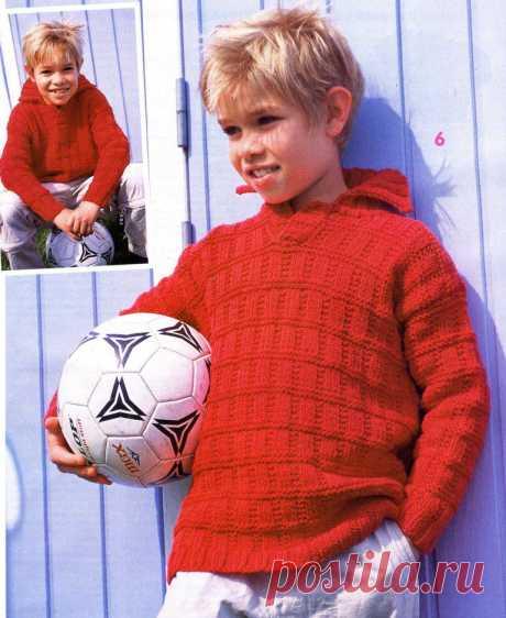 Пуловер для мальчика. Спицами.