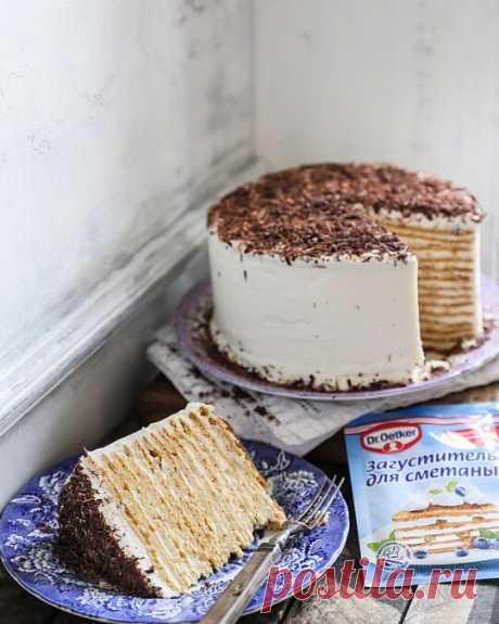 Сметанный торт очень вкусный рецепт пошаговый рецепт с фото на сайте академии Dr Oetker