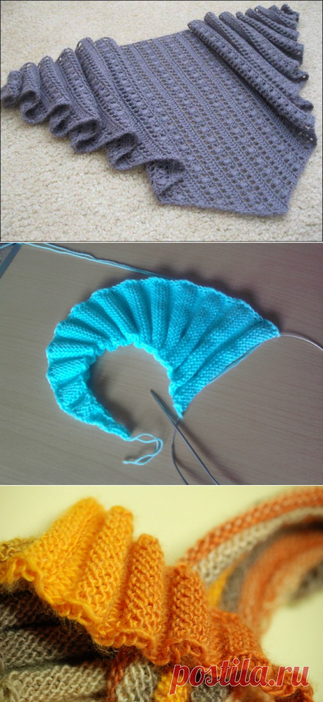 Бактус спицами: схемы и описание для начинающих, волнорез, ажурный, шарф, связать, платочной вязкой, мастер-класс, фото, видео
