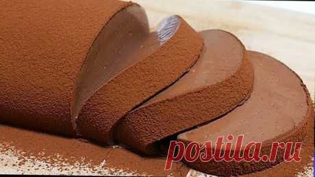 Шоколадный мусс-рулет