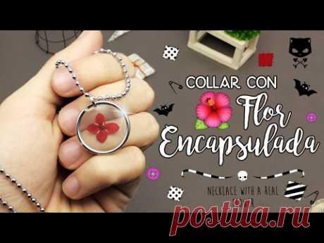 ¡APRENDE A ENCAPSULAR UNA FLOR! (a prueba de tontos) - Necklace with a REAL flower