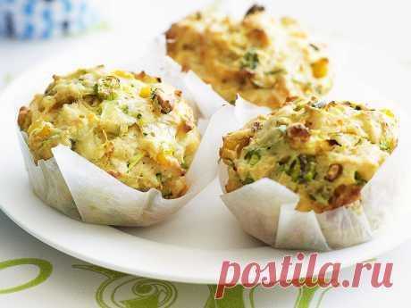 Кабачковые маффины с картофелем и сыром