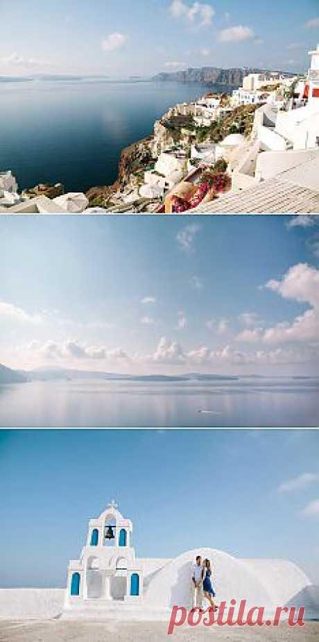 Медовый месяц: белоснежный Санторини - WeddyWood