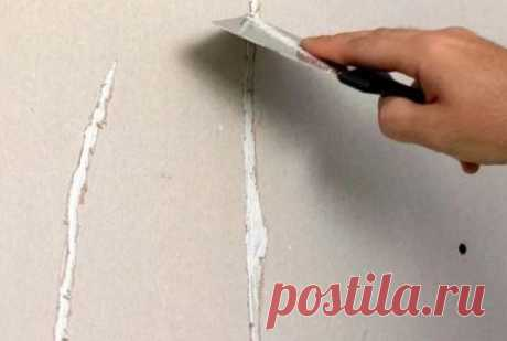 Repair of cracks in the wall of the house the hands: what to do if cracks on walls went. How to close up a crack in a brick wall or in concrete, in plaster and a plasterboard partition.